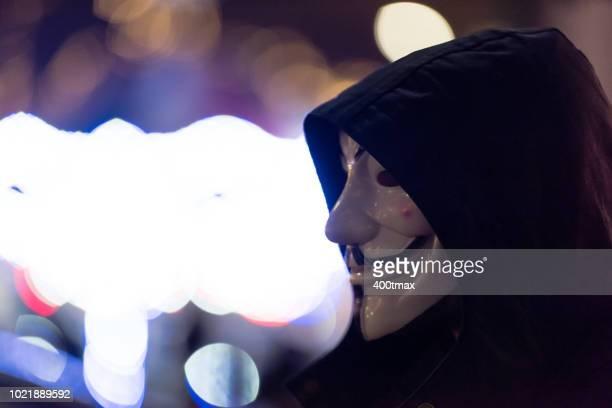 seattle - anonymous hacker fotografías e imágenes de stock