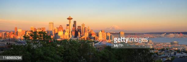 seattle - mt rainier stock pictures, royalty-free photos & images