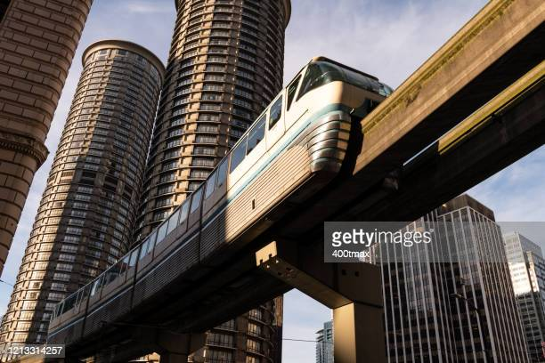 seattle - monorail stock pictures, royalty-free photos & images
