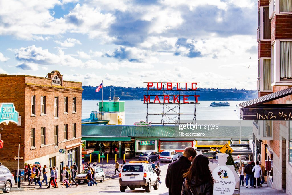 Seattles Pike Place Public Market : Stock-Foto