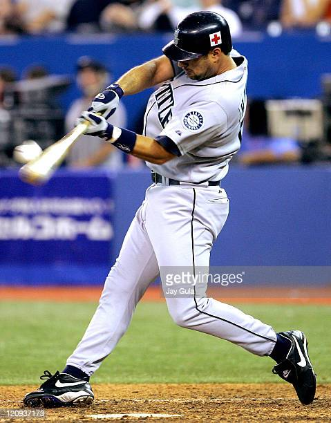 Seattle pinch hitter Dave Hansen grounds out in action at Rogers Centre in Toronto September 22 2005