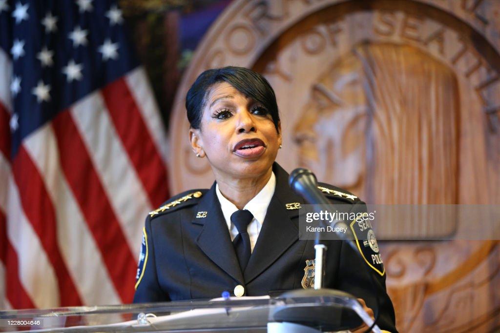Seattle Police Chief Carmen Best Announces Resignation : News Photo