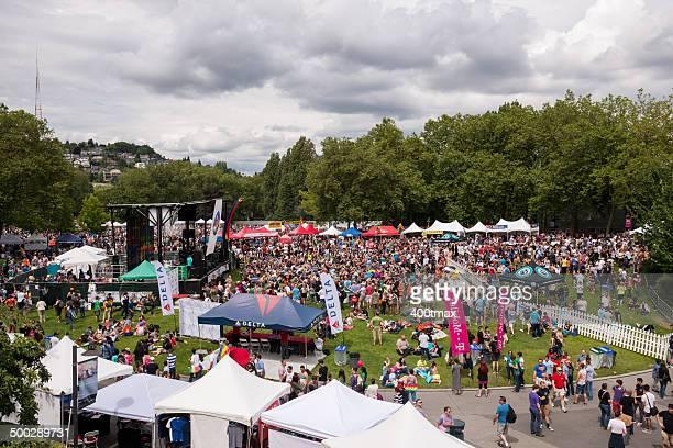 seattle pride festival - seattle center stock-fotos und bilder