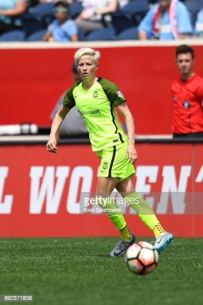 Seattle Reign FC forward Megan Rapinoe controls the ball in the first half during a game between the Seattle Reign and the Chicago Red Stars on June...