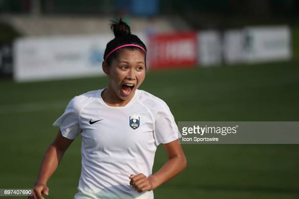 Seattle Reign FC forward Nahomi Kawasumi before an NWSL match between the Seattle Reign FC and FC Kansas City on June 17 2017 at Children's Mercy...