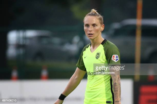 Seattle Reign FC midfielder Jessica Fishlock in the first half of an NWSL match between the Seattle Reign FC and FC Kansas City on June 17 2017 at...