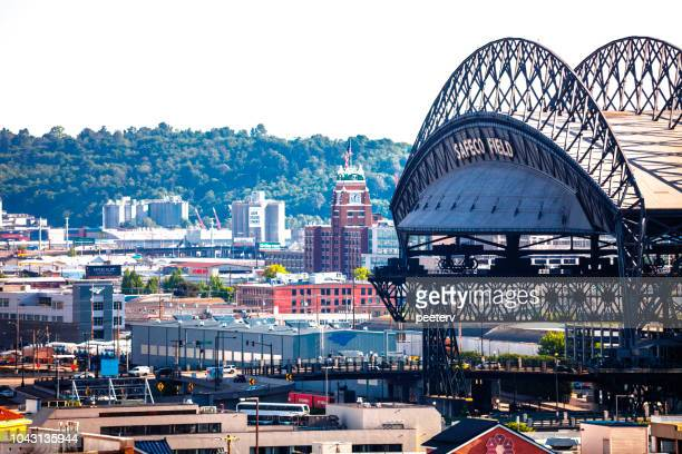 Seattle roofs and Safeco Field stadium