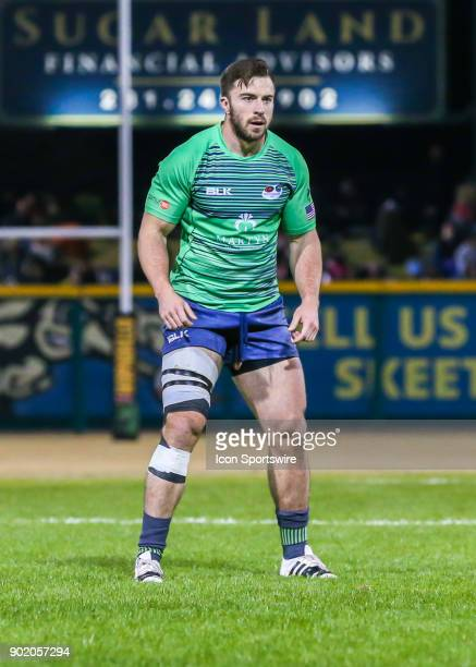 Seattle Saracens Eric Soto waits for play to begin during the opening rugby match between the Seattle Saracens and Houston SaberCats on January 6...