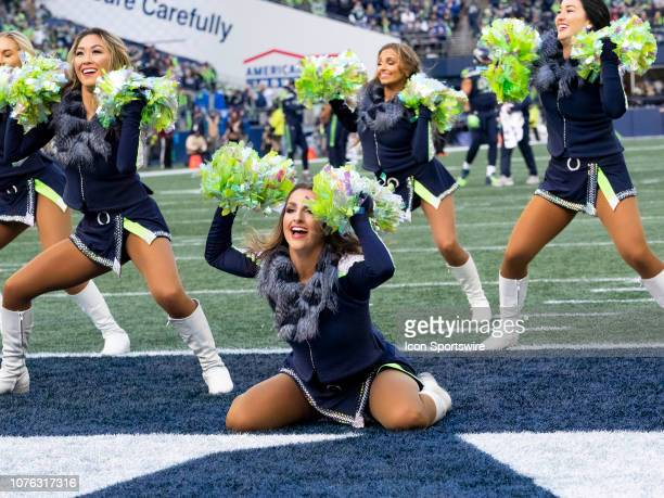 Seattle Seagals cheerleaders during the NFL football game between the Arizona Cardinals and the Seattle Seahawks on December 30 2018 at CenturyLink...