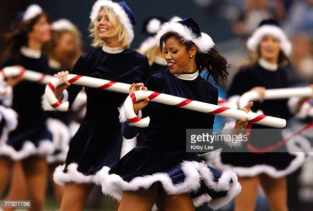 Seattle Seahawk Sea Gals cheerleaders perform a Christmas routine during game against the Indianapolis Colts at Qwest Field in Seattle Wash on...