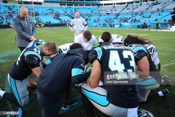 Seattle Seahawks and Carolina Panthers prayer circle during the 2nd half of the Carolina Panthers versus the Seattle Seahawks on December 15 at Bank...