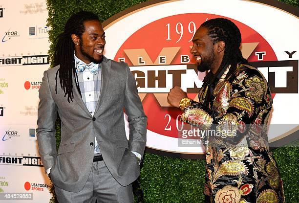 Seattle Seahawks cornerback Richard Sherman and his brother Branton Sherman attend Muhammad Ali's Celebrity Fight Night XX held at the JW Marriott...
