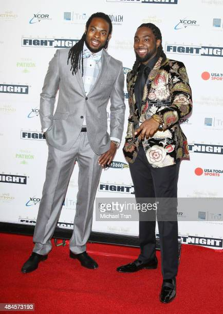 Seattle Seahawks cornerback Richard Sherman and his brother Branton Sherman arrive at the Celebrity Fight Night XX held at JW Marriott Desert Ridge...