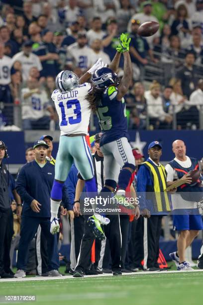 Seattle Seahawks cornerback Shaquill Griffin breaks up a pass intended for Dallas Cowboys wide receiver Michael Gallup during the NFC wildcard...