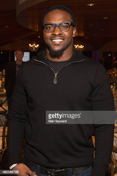 Seattle Seahawks Defensive End Cliff Avril attends the the FAM 1st FAMILY FOUNDATION Charity Event at The Edgewater Hotel on December 14 2014 in...