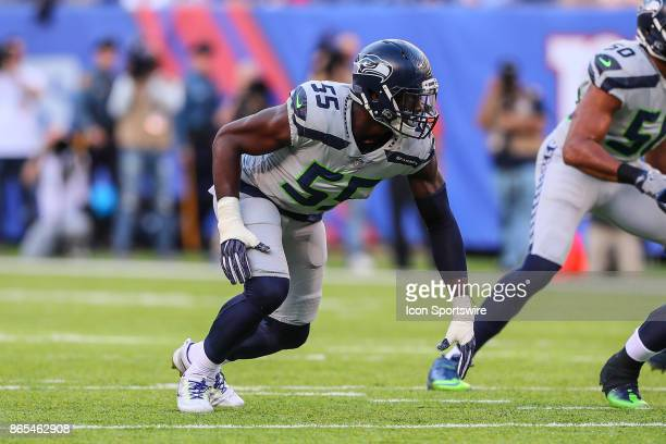 Seattle Seahawks defensive end Frank Clark during the National Football League game between the New York Giants and the Seattle Seahawks on October...