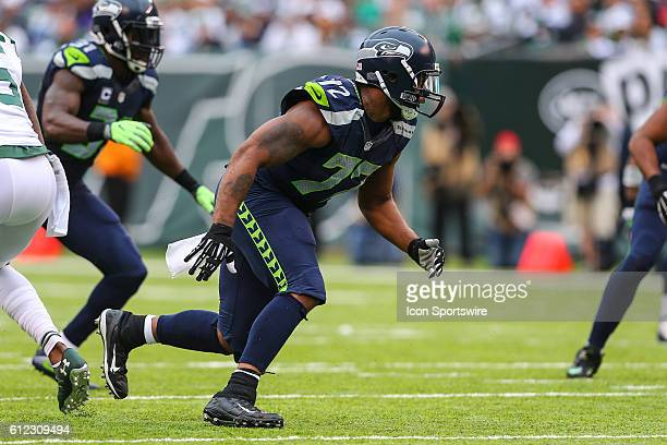 Seattle Seahawks defensive end Michael Bennett during the game between the New York Jets and the Seattle Seahawks played at MetLife Stadium in East...