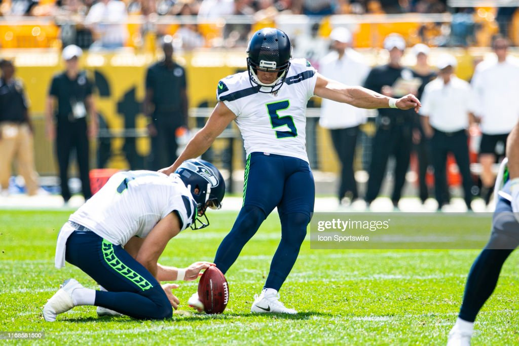 Seattle Seahawks Kicker Jason Myers Kicks An Extra Point