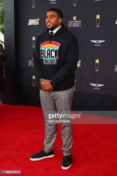 Seattle Seahawks linebacker Bobby Wagner poses prior to the NFL Honors on February 1 2020 at the Adrienne Arsht Center in Miami FL