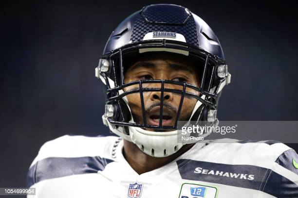 Seattle Seahawks linebacker KJ Wright is seen during the first half of an NFL football game against the Detroit Lions in Detroit Michigan USA on...