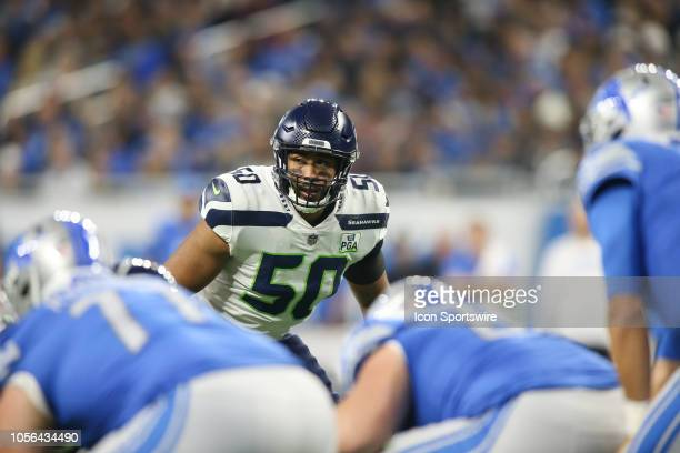 Seattle Seahawks linebacker KJ Wright waits for the play during a regular season game between the Seattle Seahawks and the Detroit Lions on October...