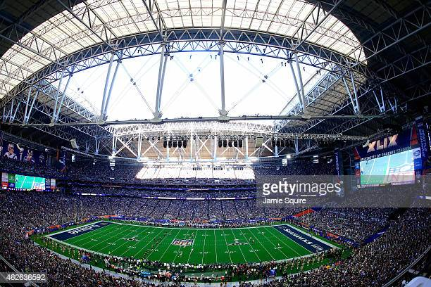 Seattle Seahawks prepare to kick off prior to Super Bowl XLIX against the New England Patriots at University of Phoenix Stadium on February 1 2015 in...
