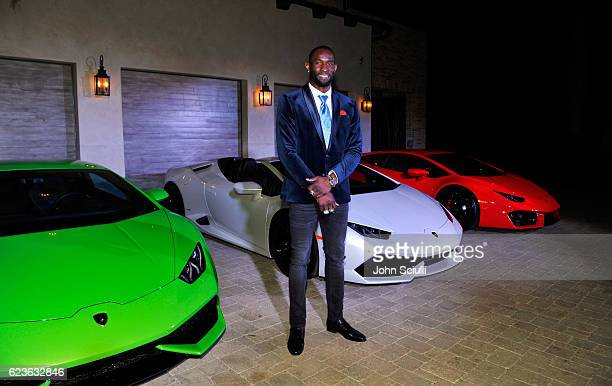 Seattle Seahawks Superbowl Champion Ricardo Lockette attends the global debut of the Huracan RWD Spyder hosted by Lamborghini on November 15 2016 in...