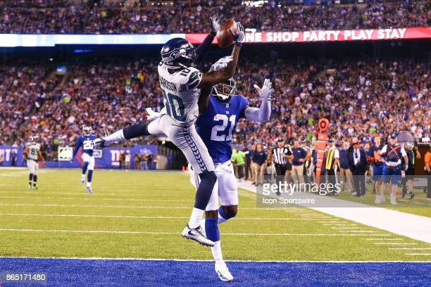 Seattle Seahawks wide receiver Paul Richardson catches a touchdown over New York Giants strong safety Landon Collins during the fourth quarter of the...