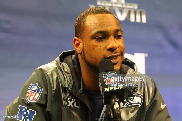 Seattle Seahawks wide receiver Percy Harvin during Super Bowl XLVIII Media Day at the Prudential Center in Newark,NJ