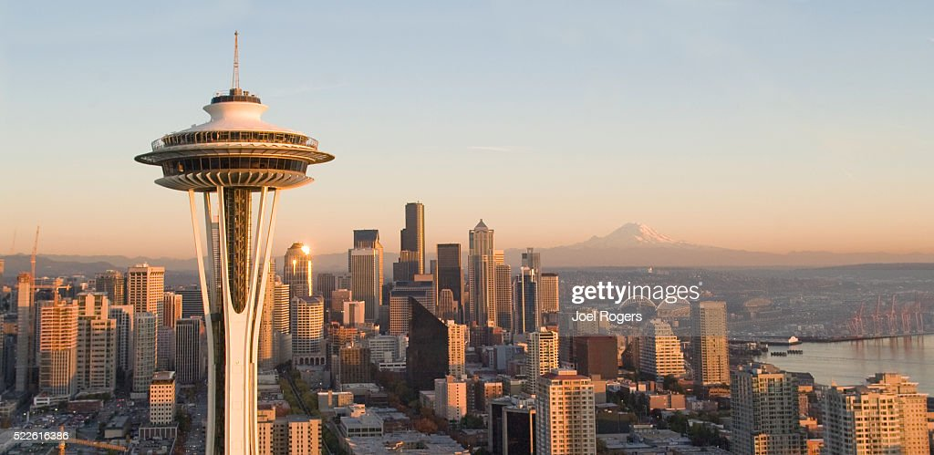 Seattle Skyline and Space Needle : Foto de stock