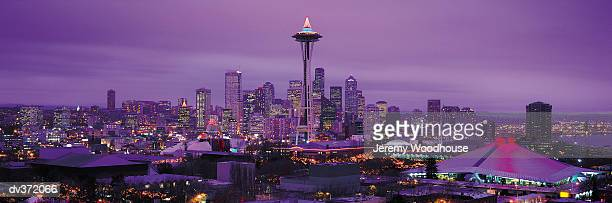 Seattle skyline at Christmas