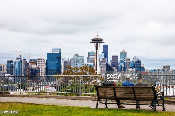 seattle skyline - kerry park - seattle imagens e fotografias de stock