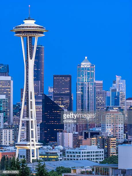 seattle skyline - seattle stock pictures, royalty-free photos & images