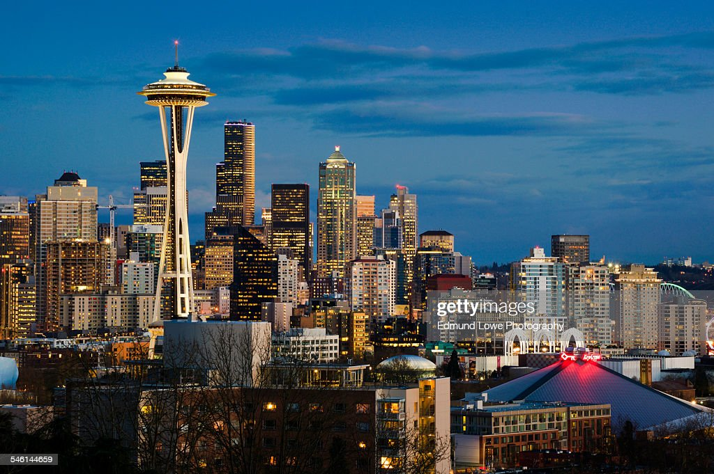 Seattle Skyline : Foto de stock
