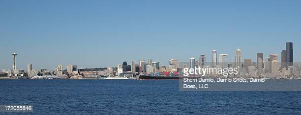 seattle skyscape - damlo does stock pictures, royalty-free photos & images
