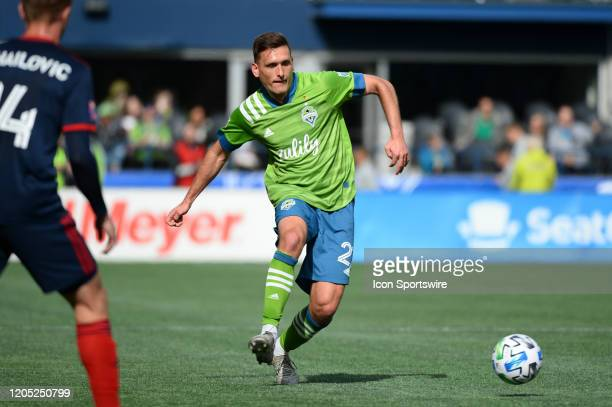 Seattle Sounder midfielder Weimar Gomez Andrade in action during a MLS match between the Chicago Fire and the Seattle Sounders at Century Link Field...