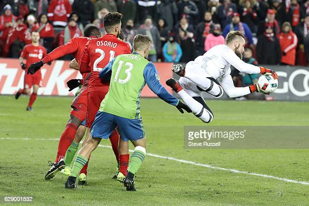 TORONTO ON DECEMBER 10 Seattle Sounders goalkeeper Stefan Frei would end up MVP as Toronto FC loses to Seattle Sounders in penalty kicks in the MLS...
