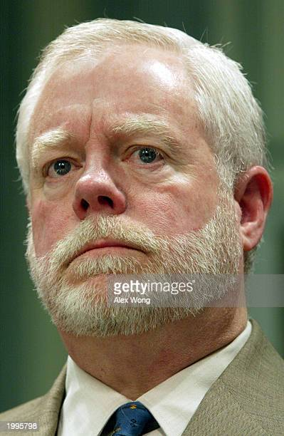 Seattle Times Publisher Frank A Blethen pauses as he testifies during a hearing on media ownership before the Senate Committee on Commerce Science...