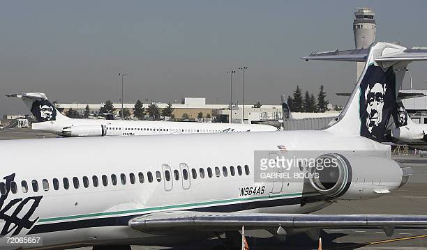 Alaska Airlines planes are seen at SeattleTacoma International Airport 25 September 2006 AFP PHOTO / GABRIEL BOUYS