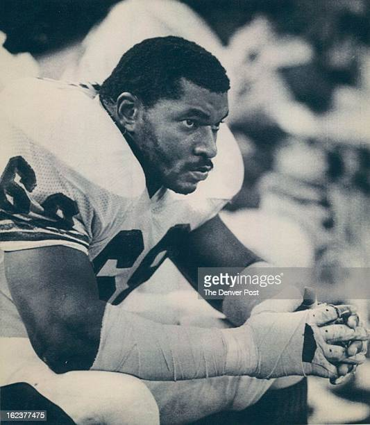 DEC 24 1983 Seattle Wa Dec 24 Late in the game the defensive unit sat quietly on the bench and tackle Rubin Carter srarred onto the field 83 Football...
