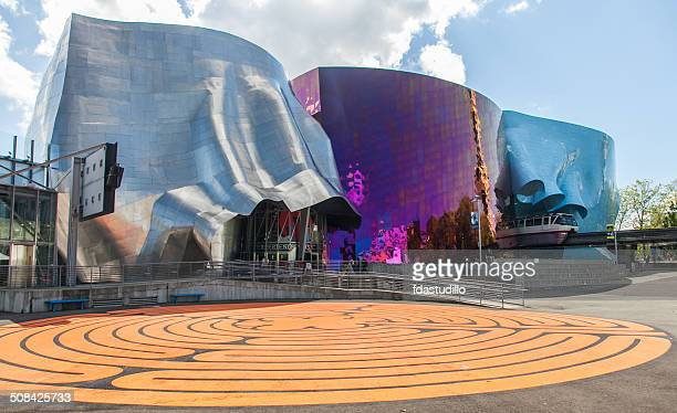 seattle, wa - emp museum - seattle stock pictures, royalty-free photos & images