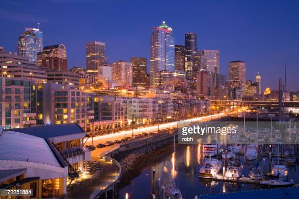 Seattle Waterfront Evening