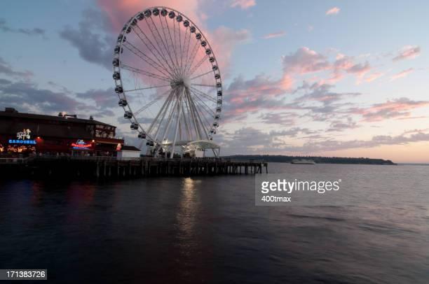 Seattle Waterfront tramonto