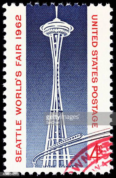 seattle world's fair 1962 - monorail stock pictures, royalty-free photos & images