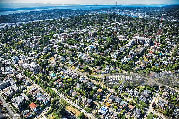 Seattle's Queen Anne Neighborhood Aerial View