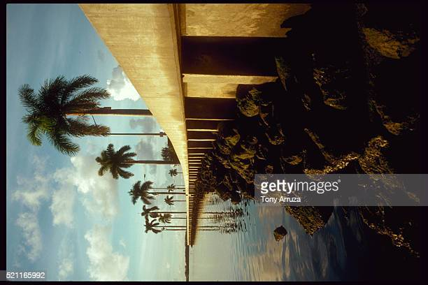 seawall along waterway - seawall stock pictures, royalty-free photos & images