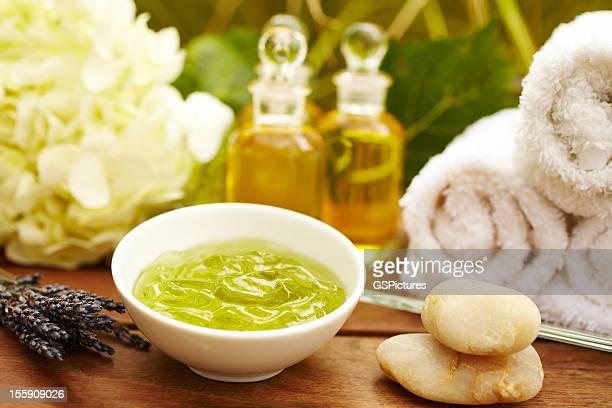 Seetang-Gesichtsbehandlung-Produkte im spa