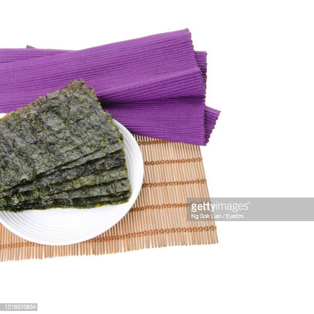 seaweed or seaweed snack on the background - 海苔 ストックフォトと画像