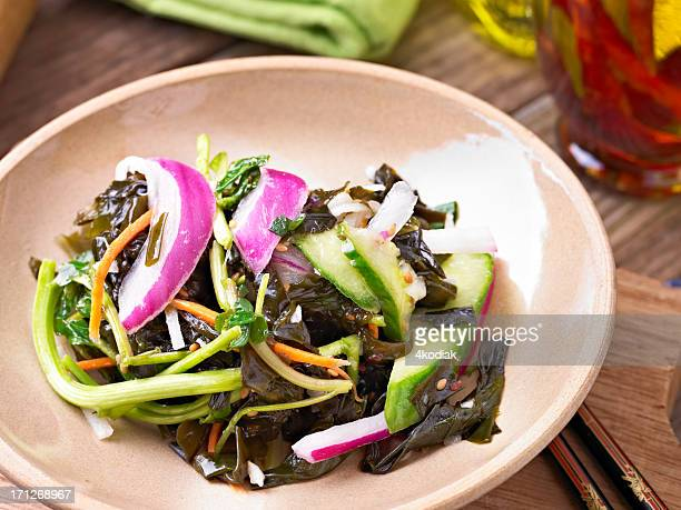 seaweed salad - seaweed stock pictures, royalty-free photos & images