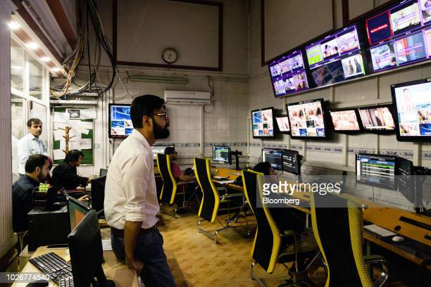 Seayer Ahadzada commercial director at Alef Technology stands in the operations room of the company's office in Kabul Afghanistan on Wednesday July...